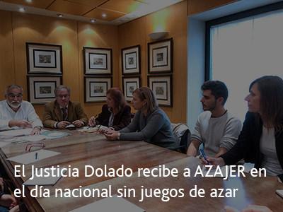 El Justicia Dolado recibe a AZAJER en el día nacional sin juegos de azar