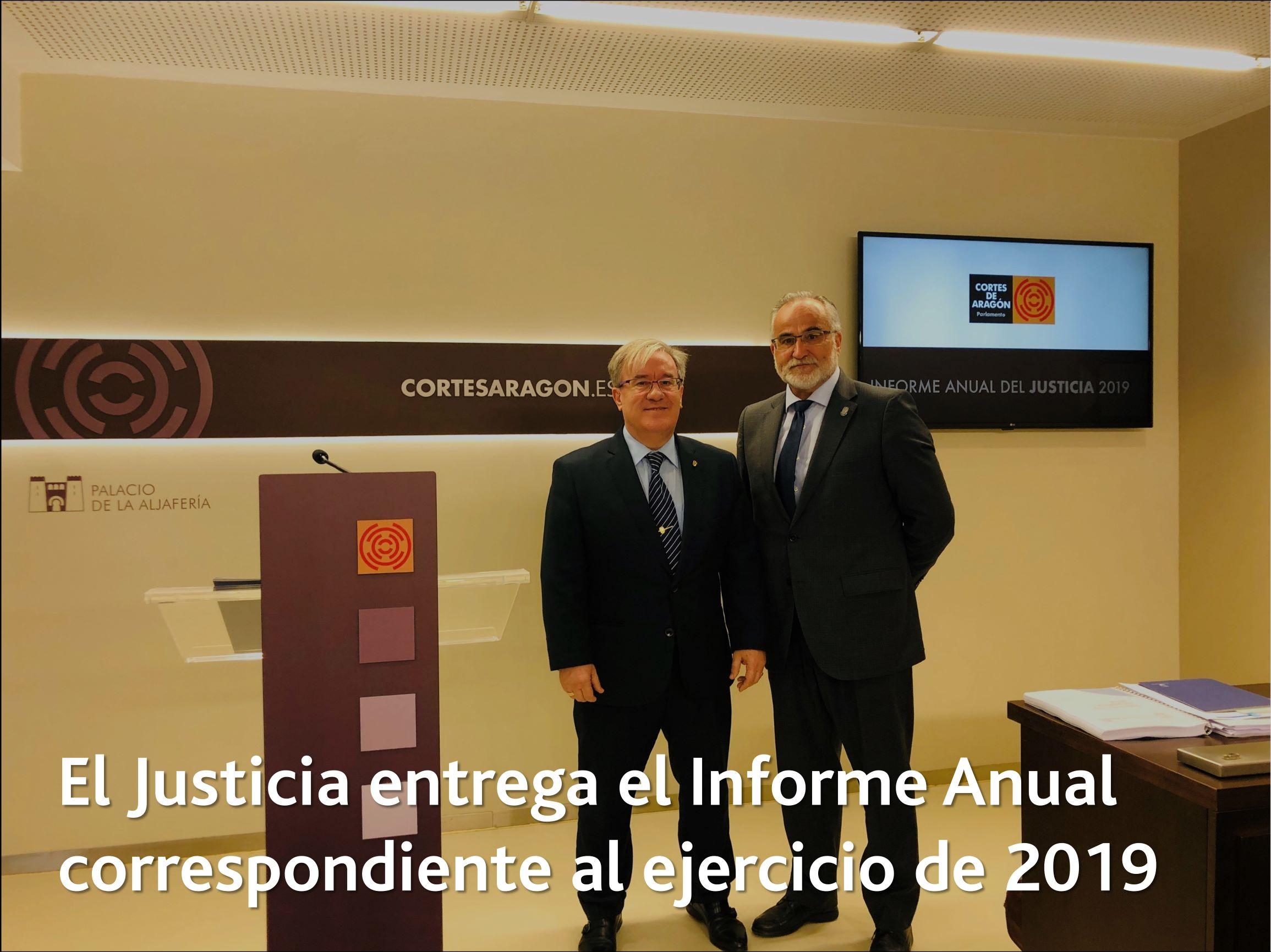 El Justicia entrega el Informe correspondiente a 2019