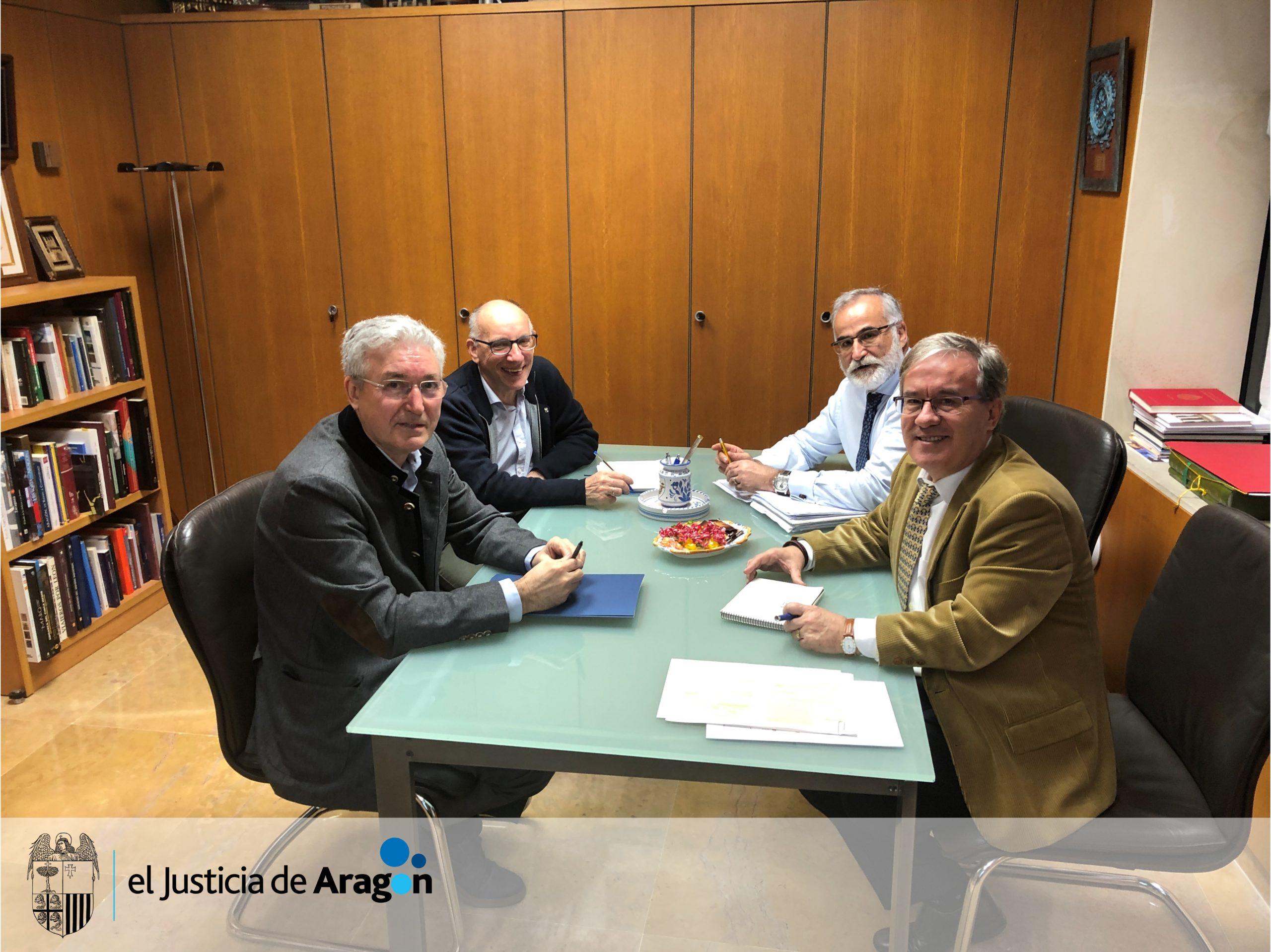 El Justicia se reúne con el nuevo Comisionado  para la Infancia del Gobierno de Aragón