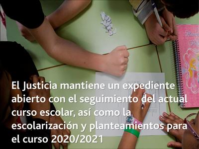 El Justicia mantiene un expediente abierto con el seguimiento del actual curso escolar, así como la escolarización y planteamientos para el curso 2020/2021