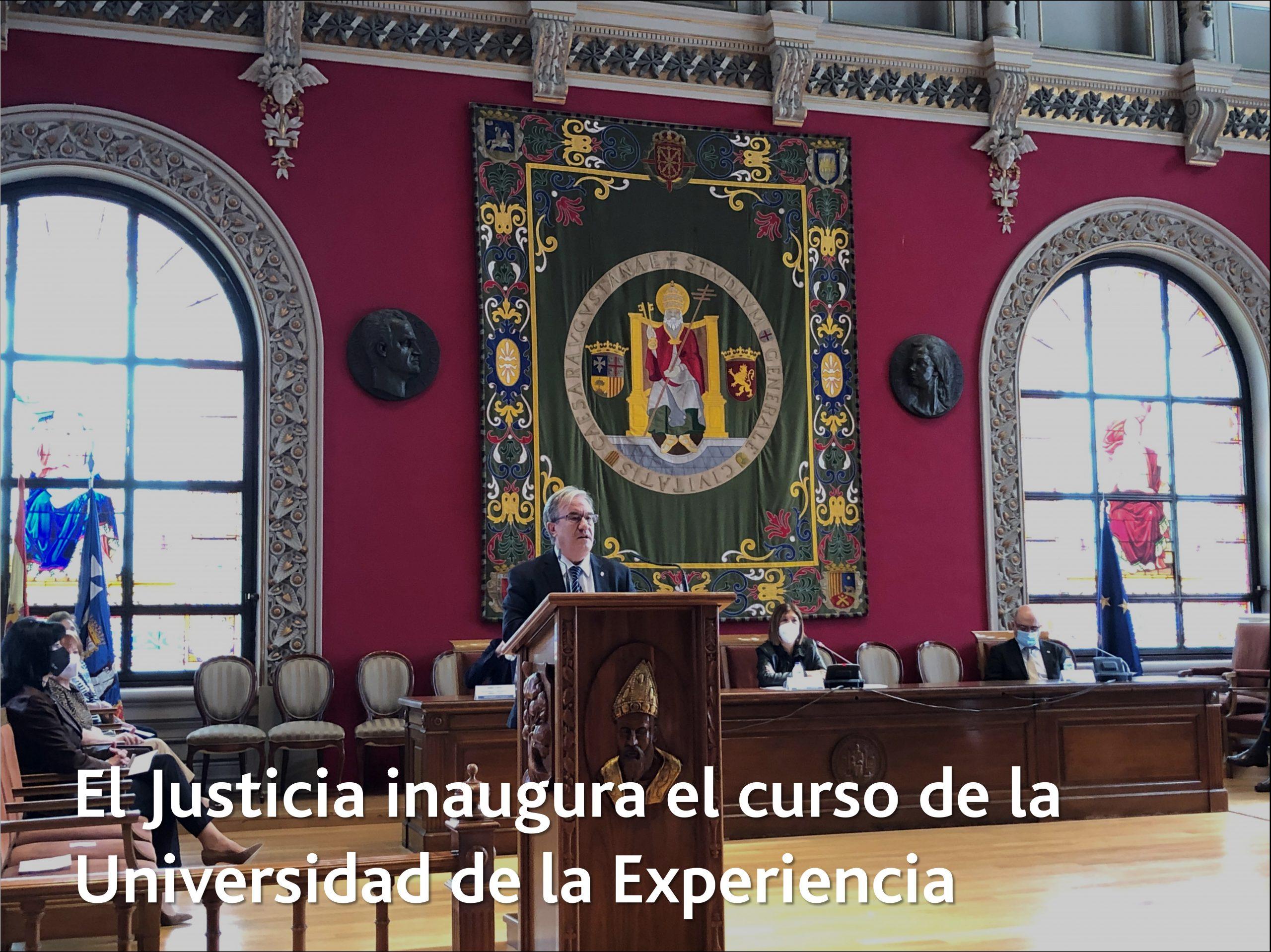 El Justicia inaugura el curso de la Universidad de la Experiencia